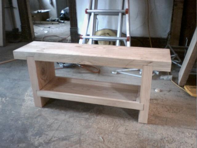 Heavy Bench With Shelf